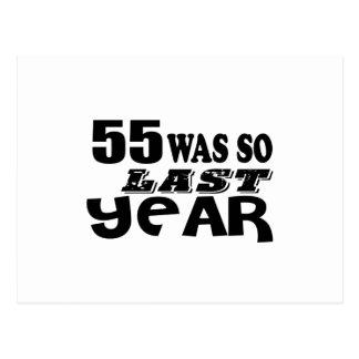 Cartão Postal 55 era assim tão no ano passado o design do