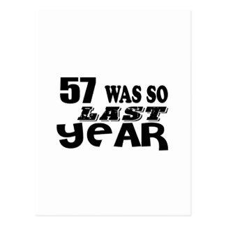 Cartão Postal 57 era assim tão no ano passado o design do
