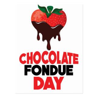Cartão Postal 5 de fevereiro - dia do Fondue de chocolate