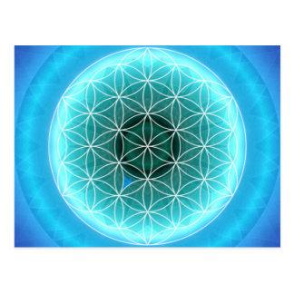Cartão Postal 5 lightblue do chakra da garganta criados por