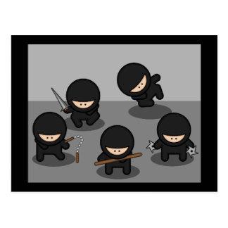 Cartão Postal 5 ninjas pequenos