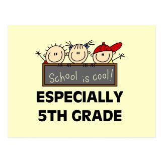 Cartão Postal 5o A escola primária é camiseta legal e presentes