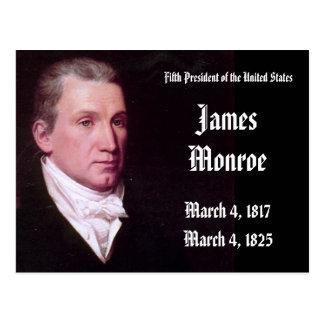 Cartão Postal 5o Presidente dos Estados Unidos James Monroe