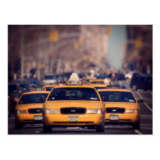 Cartão Postal 5o Táxis de táxi da avenida