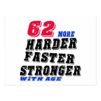 Cartão Postal 62 mais fortes mais rápidos mais duros com idade