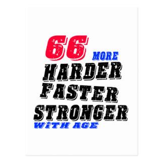 Cartão Postal 66 mais fortes mais rápidos mais duros com idade