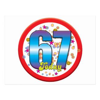 Cartão Postal 67th Aniversário hoje v2