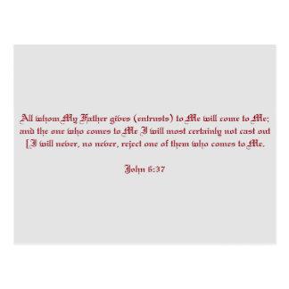 Cartão Postal 6:37 de John