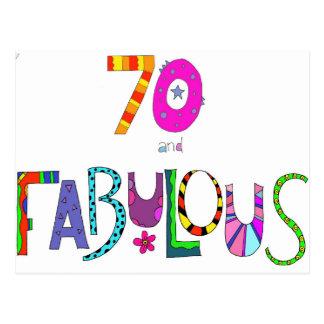 Cartão Postal 70 e aniversário fabuloso do 70