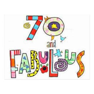 Cartão Postal 70 & fabuloso - aniversário feliz do 70