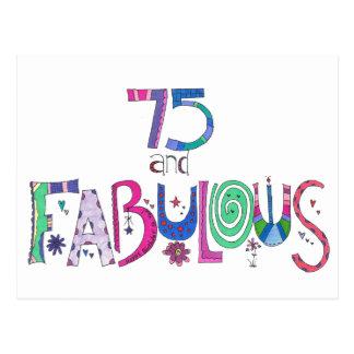 Cartão Postal 75 e 75th aniversário fabuloso