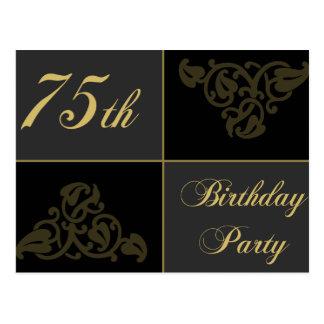 Cartão Postal 75th Fontes da festa de aniversário