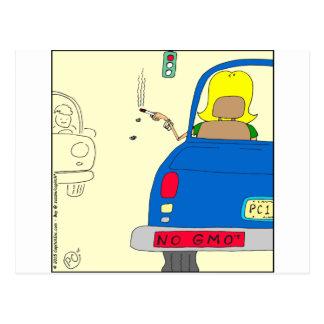 Cartão Postal 765 nenhuns GMO que fumam a senhora
