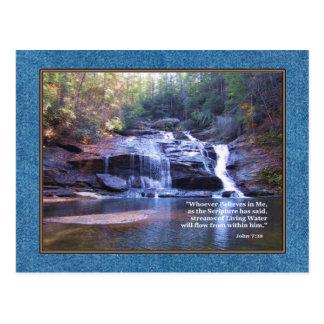 Cartão Postal 7:38 vivo de John da água