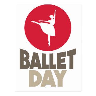 Cartão Postal 7 de fevereiro - dia do balé