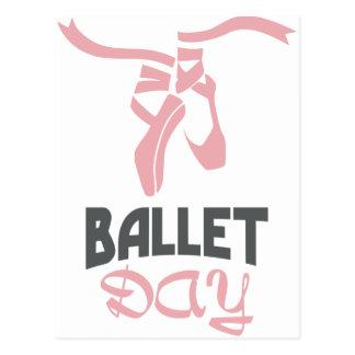 Cartão Postal 7 de fevereiro - dia do balé - dia da apreciação