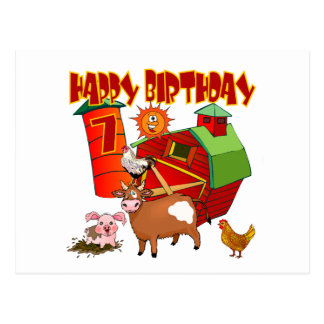 Cartão Postal 7o Aniversário da fazenda do aniversário