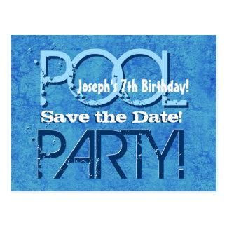 Cartão Postal 7o Economias da festa na piscina do aniversário a