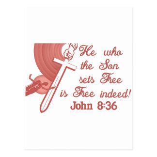 Cartão Postal 8:36 de John