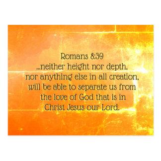Cartão Postal 8:39 dos romanos o amor do deus no cristo Jesus,