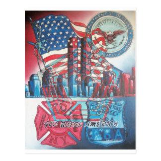 Cartão Postal 911 deus abençoe América