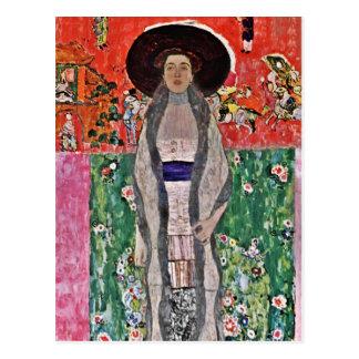 Cartão Postal A Adele Bloch-Bauer de Klimt em um chapéu grande