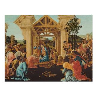 Cartão Postal A adoração dos Magi, c.1478-82