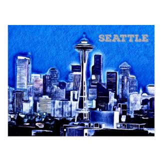 Cartão Postal A agulha do espaço - Seattle, Washington