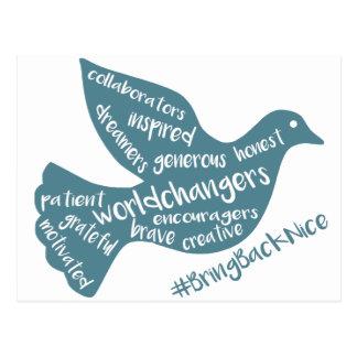 Cartão Postal A ajuda cresce o movimento ao #BringBackNice!