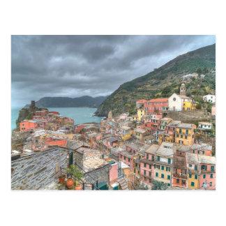 Cartão Postal A aldeia piscatória de Vernazza, Cinque Terre, AIE
