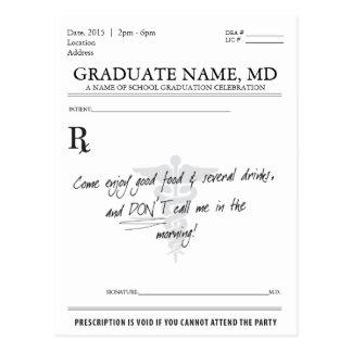 Cartão Postal A almofada da prescrição da graduação da estudante