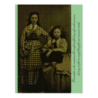 Cartão Postal A amizade é o conforto inexpressible…