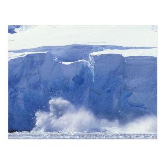 Cartão Postal A Antártica, baía do paraíso, formulários de onda
