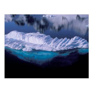 Cartão Postal A Antártica, baía do paraíso. Iceberg no cristal