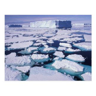 Cartão Postal A Antártica, fluxo do gelo