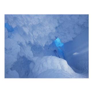 Cartão Postal A Antártica, ilha de Ross, cabo Evans, caverna da