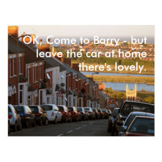 Cartão Postal A APROVAÇÃO, vem a Barry -
