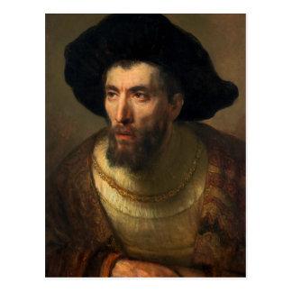 Cartão Postal A arte barroco do retrato de Rembrandt do filósofo