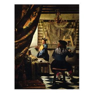 Cartão Postal A arte de Johannes Vermeer da pintura cerca de