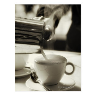 Cartão Postal A arte do fazer/da adição frescos do café