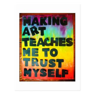 Cartão Postal A arte do fazer ensina-me confiar-se