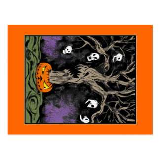 Cartão Postal A árvore do Dia das Bruxas