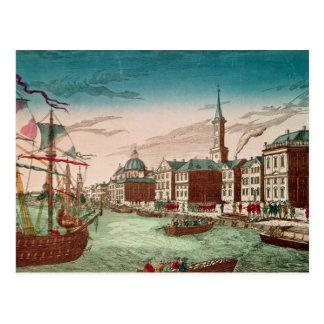 Cartão Postal A aterragem de tropas inglesas em New York