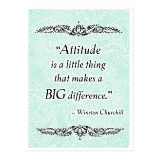 Cartão Postal A atitude é uma coisa pequena - Quote´s positivo
