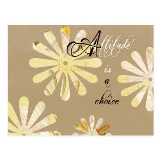 Cartão Postal A atitude é uma escolha