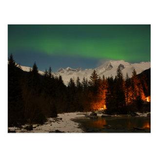 Cartão Postal A aurora boreal de Juneau