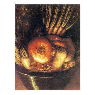 Cartão Postal A bacia vegetal por Giuseppe Arcimboldo