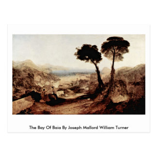 Cartão Postal A baía de Baia por Joseph Mallord William Turner