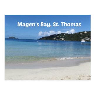 Cartão Postal A baía de Magen bonito, St Thomas
