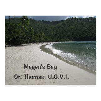 Cartão Postal A baía de Magen, St Thomas